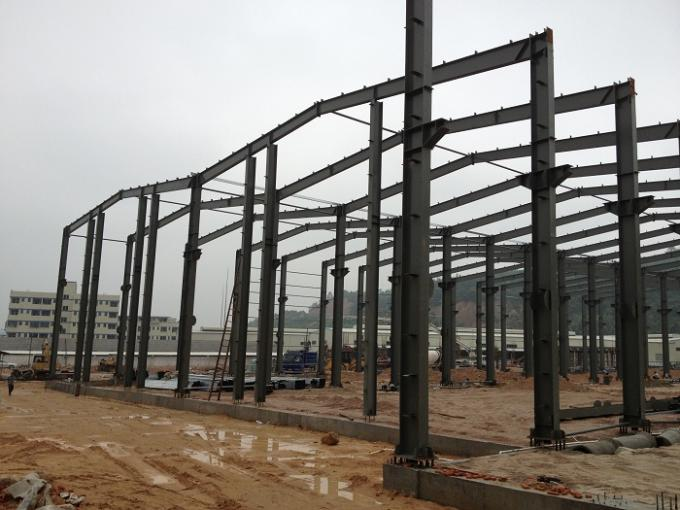 Customized H Beam Prefabricated Building Steel Frame For Industry workshop