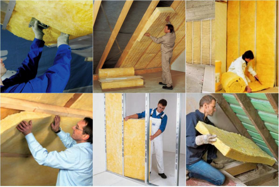 High Performance Ceiling  Fiber Glass Wool Insulation Eco Friendly