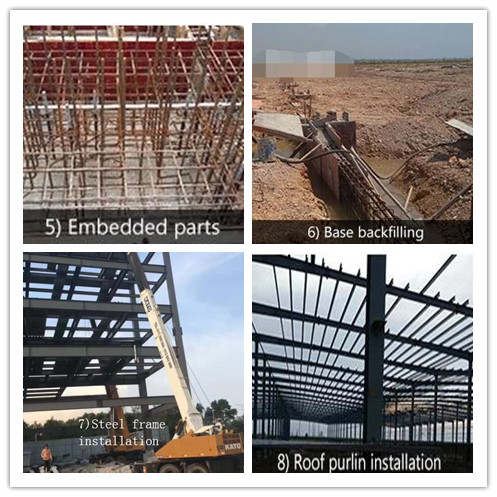 ASTM/ BS Standard High Quality  Workshop Steel Structure With Epoxy Resin Paint