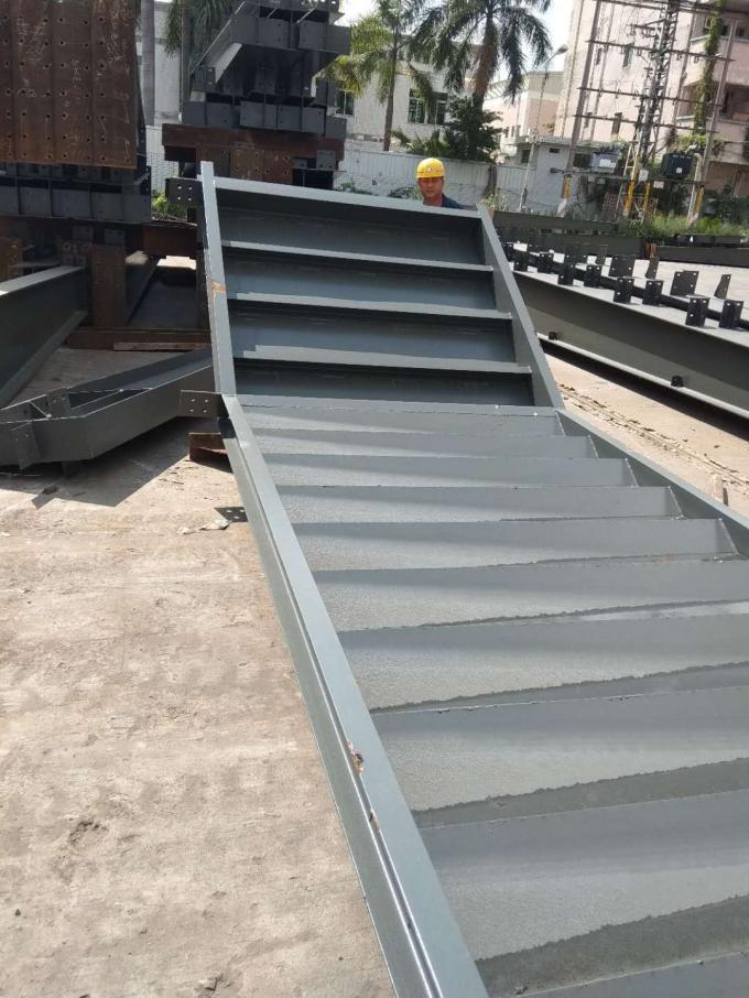 Deep Grey Paint Structural Steel Warehouse To Philippine With H / I Beam