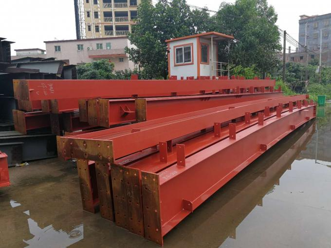 Anti - Rust Red Primer Construction Steel Frame Customized Dimensions
