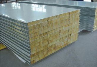 China Fire Proof Rock Wool Galvanised Steel Roofing Sheets Environment Friendly supplier