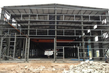 China Two Floors Steel Structure Workshop / Plant With Sliding Or Rolling Door supplier