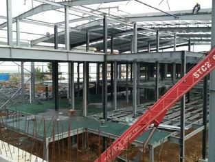China Multi - Floor Building Steel Frame Fabrication With Aluminum Alloy Window supplier