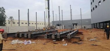 China Prefabricated Workshop Steel Structure With Hot - Rolled Steel Profiles supplier