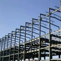 China Q345B  Garage Steel Frame Grey Color Paint, Industrial Garage 5000 square meter supplier