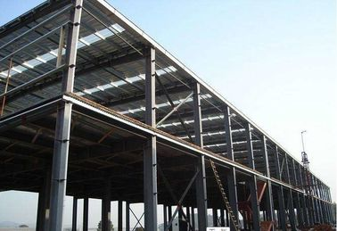China Recyclable Garage Steel Frame For Indurstrail Parks / Milk Processing Factory supplier
