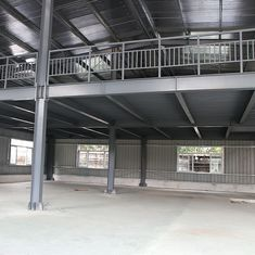 China GB Standard Steel Frame Shed With Mezzanine Floor Deck To Support Concrete supplier