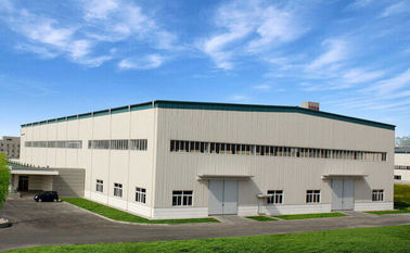 China Size 44*66M Portal Steel Structure Warehouse With Single Claddying System At 830# supplier