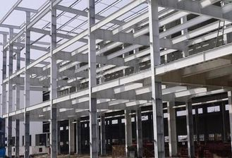 China Q345B H Section Car Garage Steel Frame For Commercial Center / Aircraft Hangars supplier