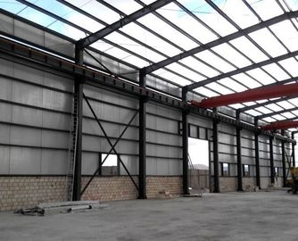 China Anti Corrosion Office Or Workshop Steel Structure With Grey Color Paint supplier