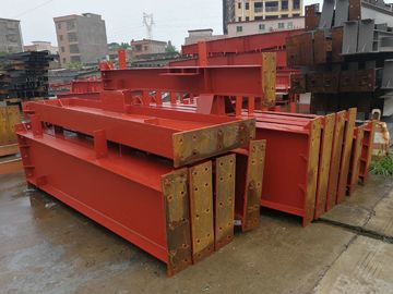 China Anti - Rust Red Primer Construction Steel Frame Customized Dimensions supplier