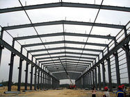 Paint Treatment Garage Steel Frame Lightweight Steel Structures- Green Building
