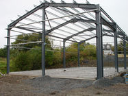 Small Warehouse Steel Structure With Anti - Rust Painting And Sandwich Or Single Claddying