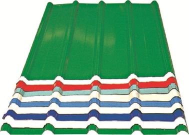 China Red/ Blue/ White Corrugated Metal Sheets , Recyclable Steel Sheets - Roof/Wall distributor
