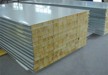 China Fire Proof Rock Wool Galvanised Steel Roofing Sheets Environment Friendly distributor