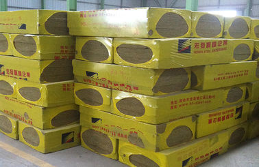 China Rock Wool , Fireproofing Rock Wool Insulation Block  From Molten Basalt Rocks distributor