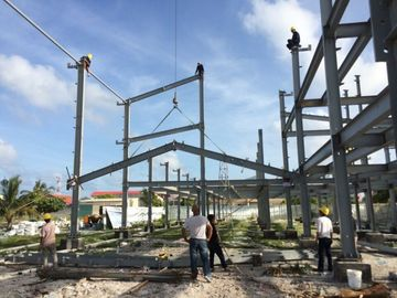 China 2 Floor Steel Framed Buildings Warehouse Steel Structure With Alkyd Grey Paint in Maldive distributor