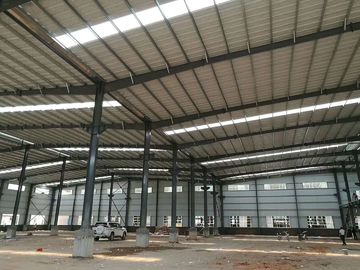 China Easy Assemble Light Weight Warehouse Steel Structure Single Or Double Span distributor