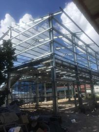 China BS Standard Hot Dip Galvanized Prefabricated Workshop Steel Structure Materials distributor