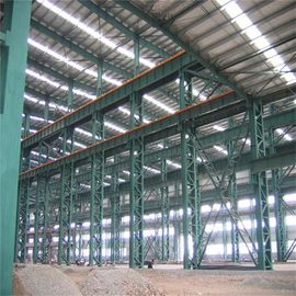 China Customize H Section Garage Steel Frame With Colored Steel Sheets Anti - Shock factory