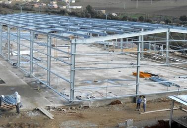China Hot - Dipped Galvanized Steel Frame For Garage With Colored Steel Roof /  Wall factory