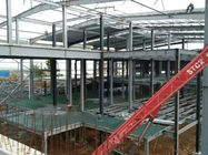 Multi - Floor Building Steel Frame Fabrication With Aluminum Alloy Window\