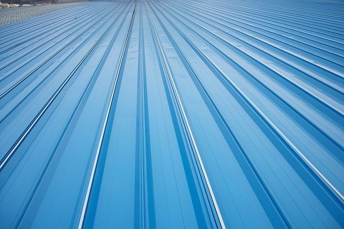 Red/ Blue/ White Corrugated Metal Sheets , Recyclable Steel Sheets - Roof/Wall