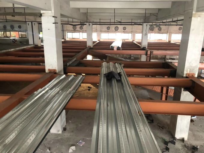 Galvanized Corrugated Steel Roofing Sheets / Floor Deck For Muti - Floor Buildings